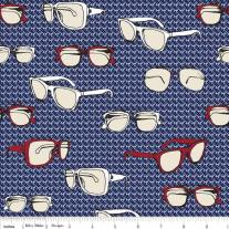 (Riley Blake Designs) Speedster, Sporty Glasses in Blue - C3901