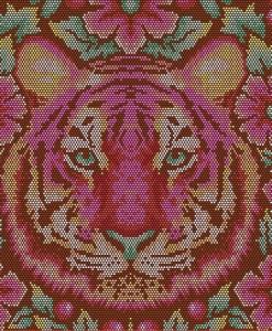 (Tula Pink) Eden, Crouching Tiger in Tourmaline - FQ