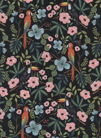 8028-1 - (Rifle Paper Co) Menagerie, Paradise Garden in Midnight