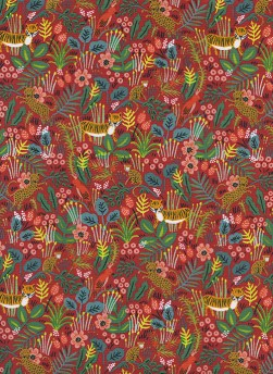 8029-3 - (Rifle Paper Co) Menagerie, Jungle in Red