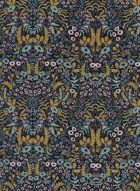 8031-4 - (Rifle Paper Co) Menagerie, Tapestry in Midnight Metallic