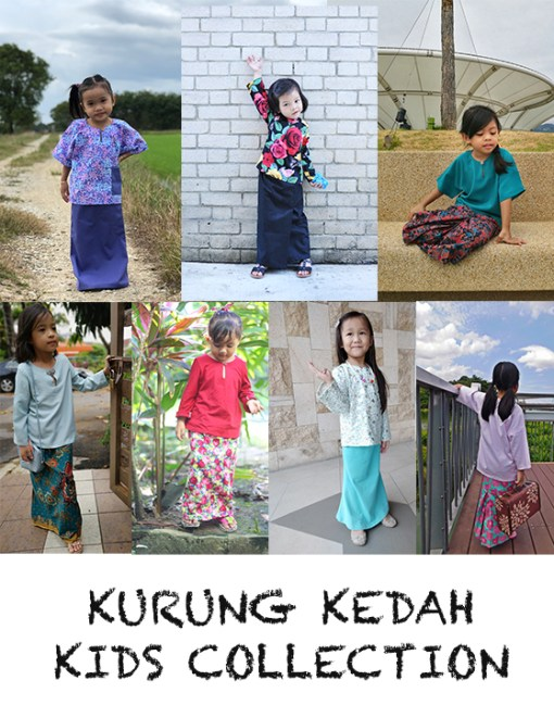Kurung Kedah Kids Collection – PDF Pattern (by Haurra Sewing)