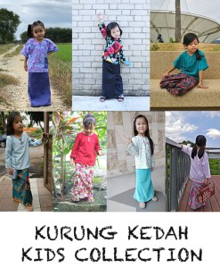 Kurung Kedah Kids Collection – PDF Pattern (by Haurra Sewing)