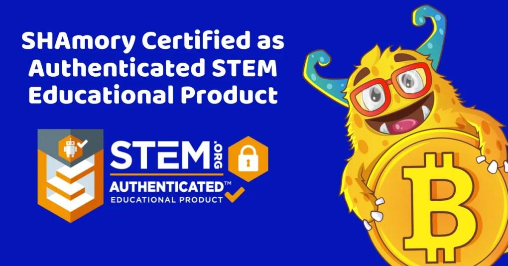 SHAmory receives STEM educational product authentication