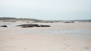 Der Omey Strand bei Ebbe   Omey Beach at low tide