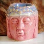 Aromalampe Buddha figur rosa