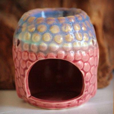 Duftlampe Buddha figur rosa