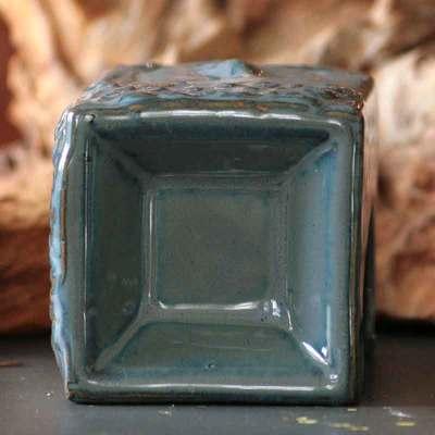 Aromalampe Buddha blå