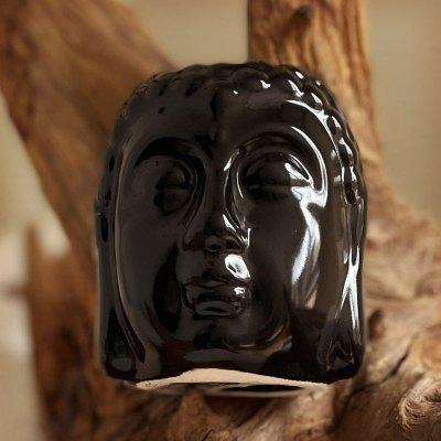 Aromalampe Buddha figur sort