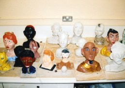 Sculptures made by young people.