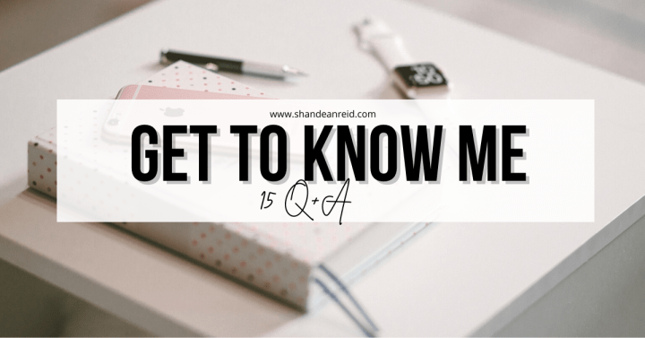 Get to Know Me: 15 Q+A
