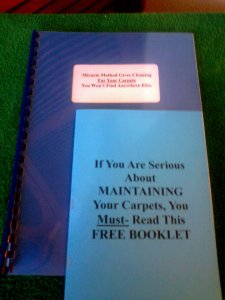 Guidebook for carpet maintenance cleaning.