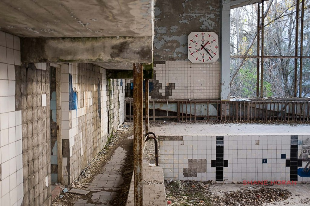 The Swimming pool, Pripyat, Chernobyl, Ukraine