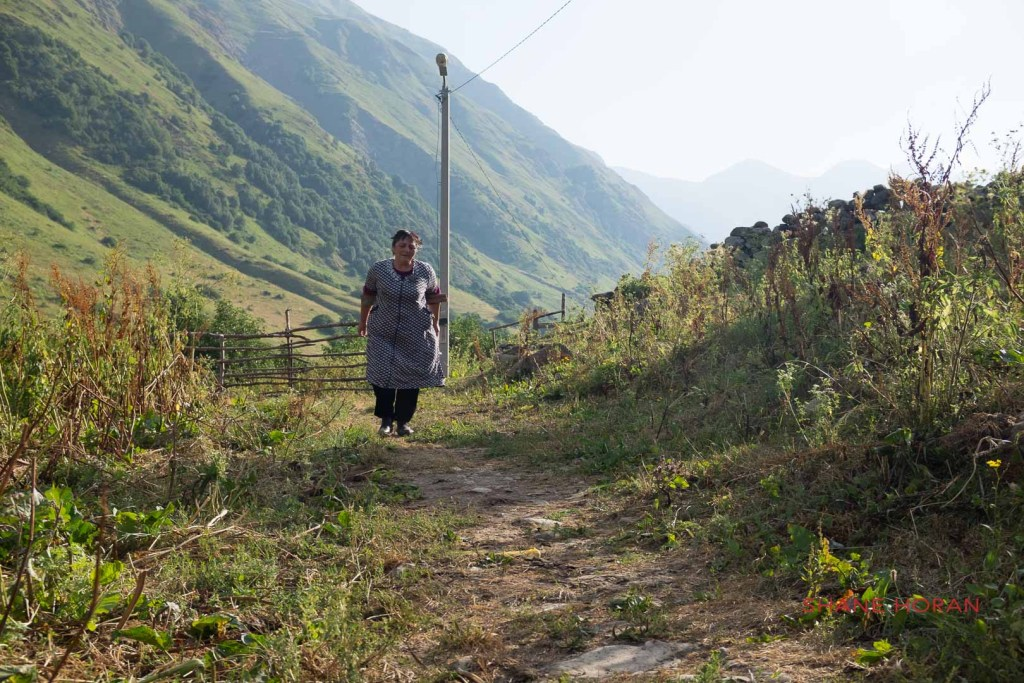 Villager in remote South Ossetia. Caucasus.