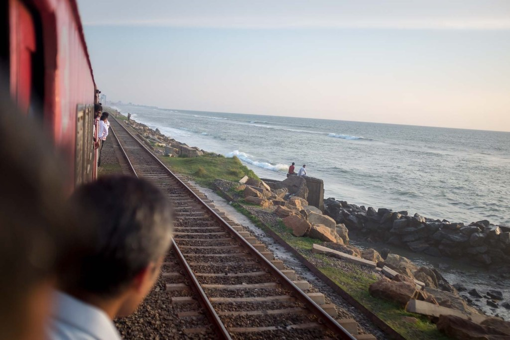 The commuter line in Colombo, Sri Lanka