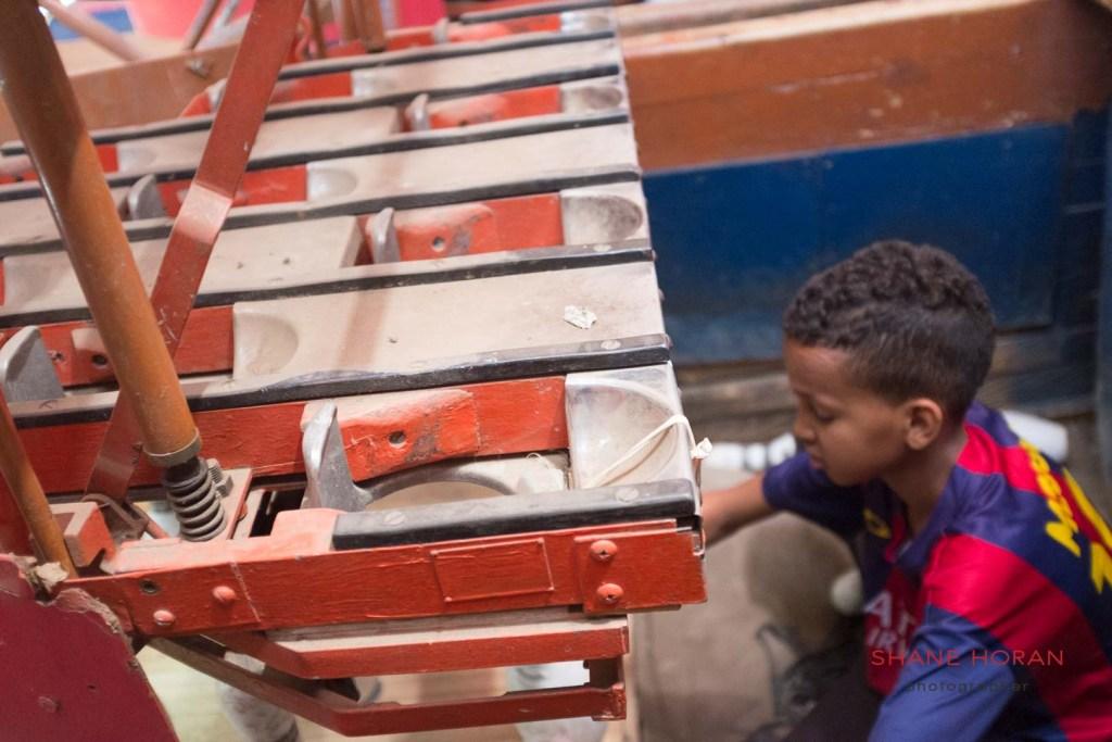 Bowling pins await replacement, Asmara, Eritrea.