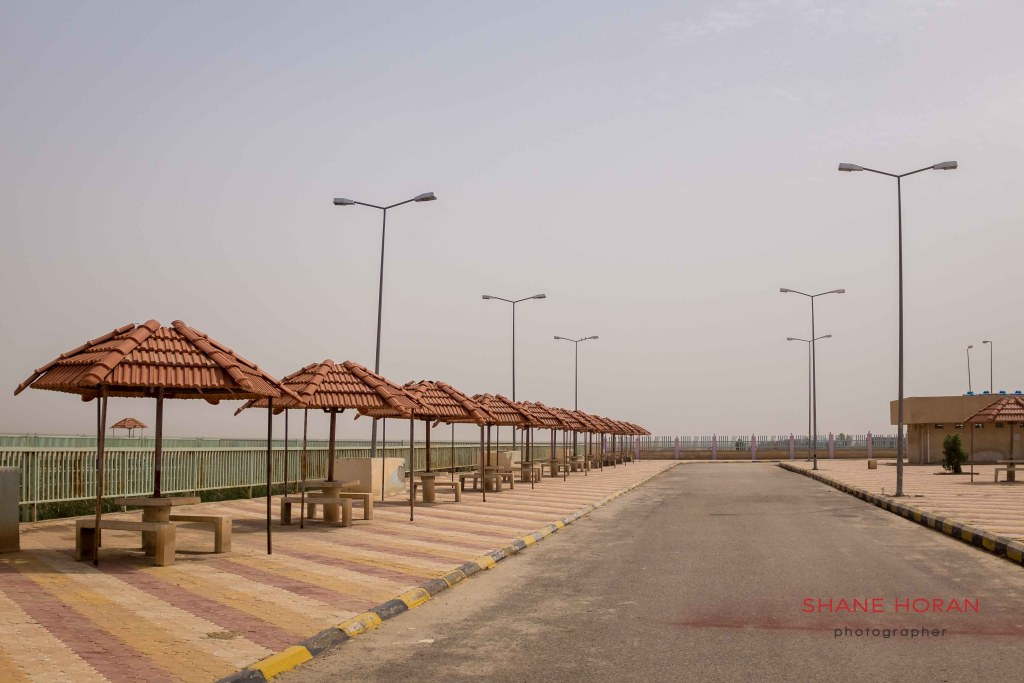 Abandoned Iraq. Tourist facilities lay idle at the southern marshlands, Iraq.