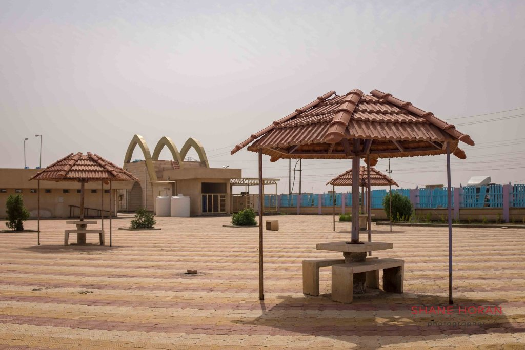 These tourist sites were a vision of what coupld have been in the southern Marshlands, Iraq