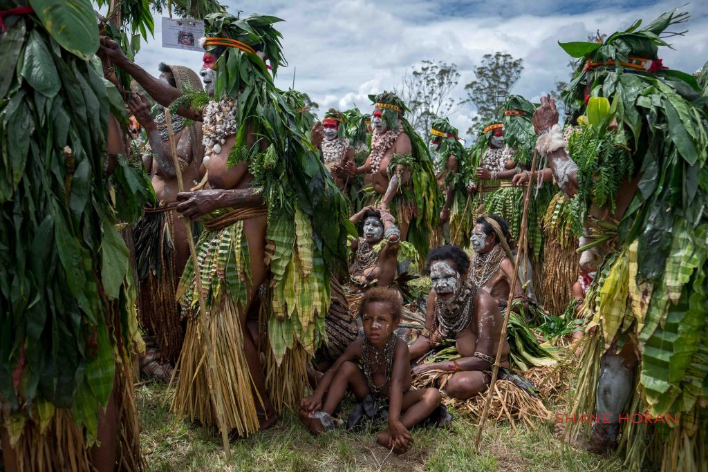 Resting from the sun, Papua New Guinea
