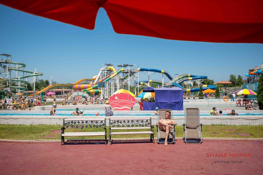 Chilling. Munsu water park, Pyongyang, North Korea.