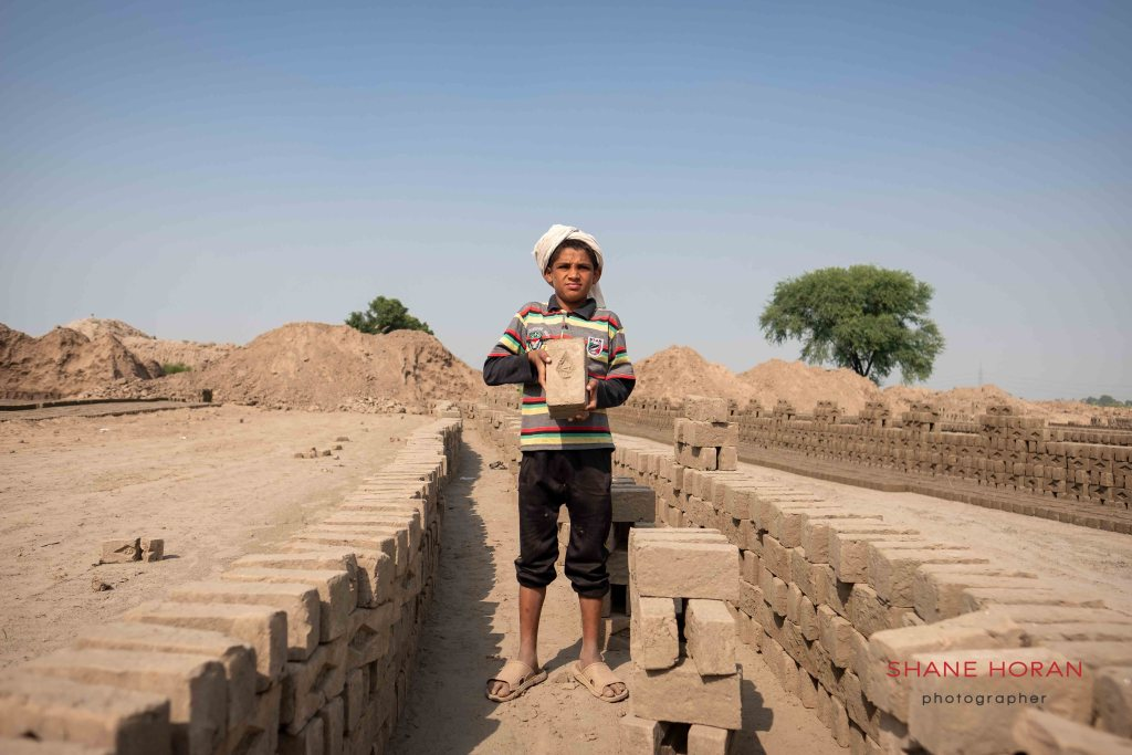 Child worker at a brick factory, Pakistan