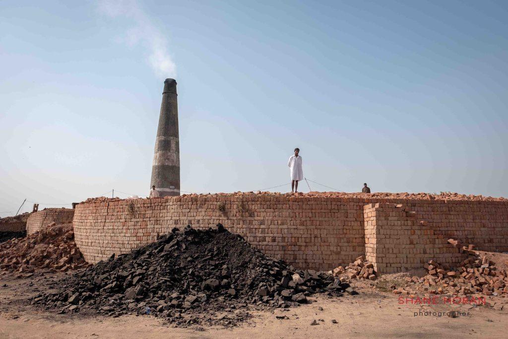 Workers on a brick kiln, Pakistan