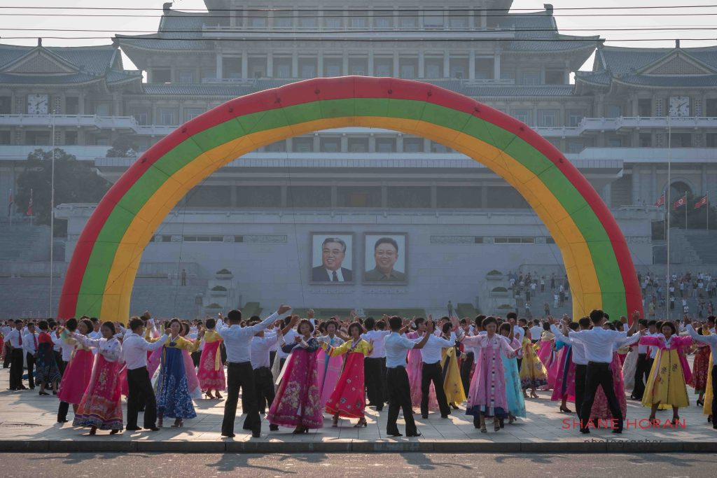 Celebrating Victory Day, Pyongyang, North Korea