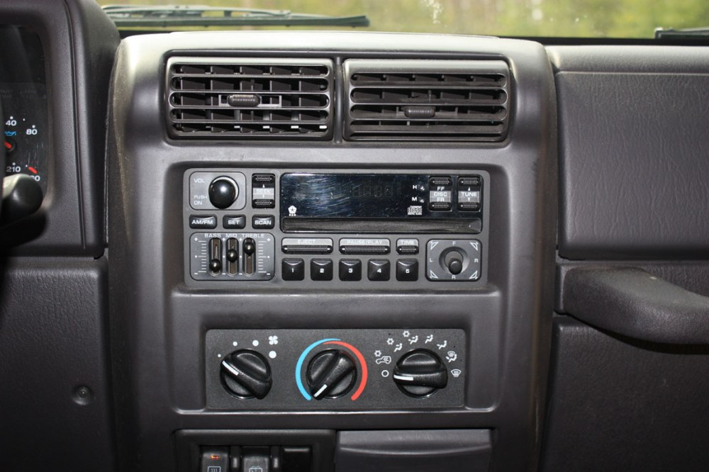 medium resolution of upgrading a 2001 jeep wrangler stereo
