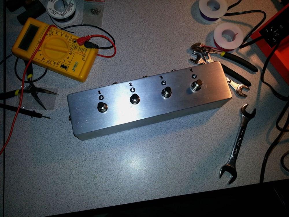 medium resolution of diy guitar fx 4 channel audio looper shanekirk com midi effects looper wiring diagram