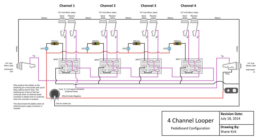 medium resolution of looper wiring diagram wiring diagram third level true byp looper volume led dpdt switch wiring diagram