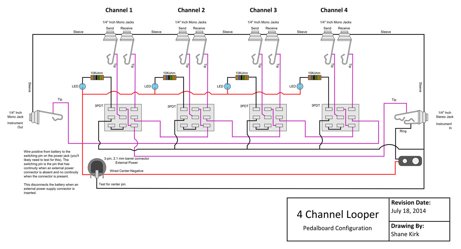 hight resolution of looper wiring diagram wiring diagram third level true byp looper volume led dpdt switch wiring diagram