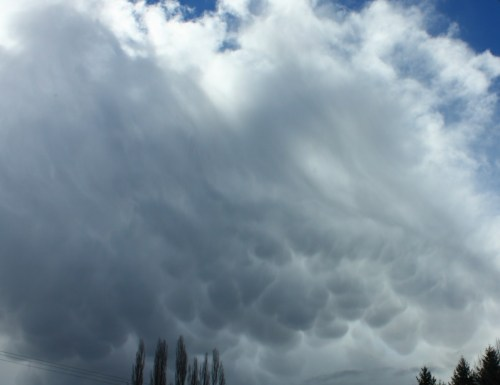 Amazing Mammatus Cloud Formation in New Zealand