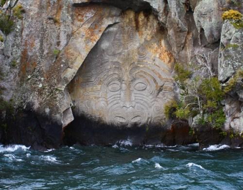 Lake Taupo Maoir Rock Carvings