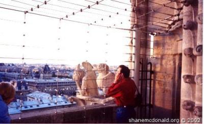 Me Copying the Gargoyles, Paris, France Just doing what the Gargoyles do.