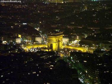 Arc du Triomphe Night, Paris, France