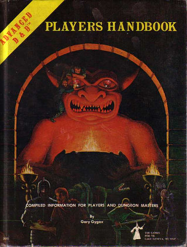 AD&D Players Handbook 1st Edition Original Cover