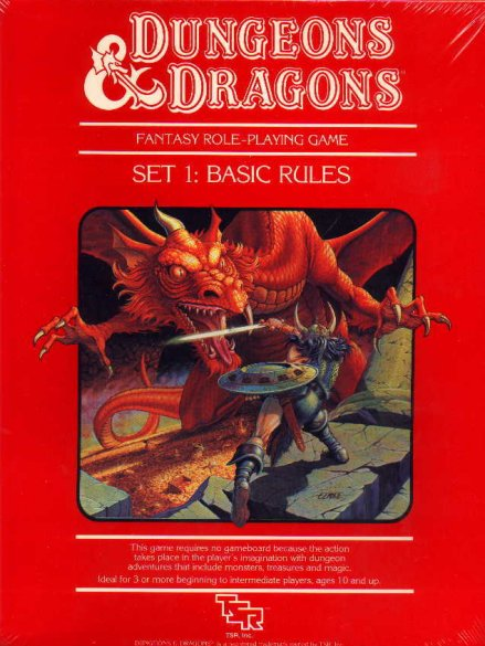 "D&D Basic Set 3rd Edition, the classic ""Red Box"" edition (Mentzer)"