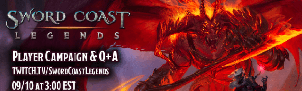 Sword Coast Legends Twitch stream title