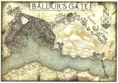 Baldur's Gate map