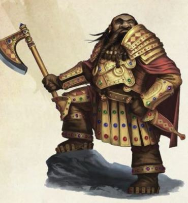 D&D Sword Coast Adventurers Guide dwarf in ornate armor