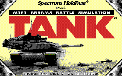 M1A1 Abrams Tank Simulator title screen