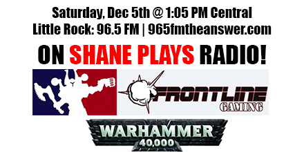Shane Plays Guest Promo Banner Frontline Gaming