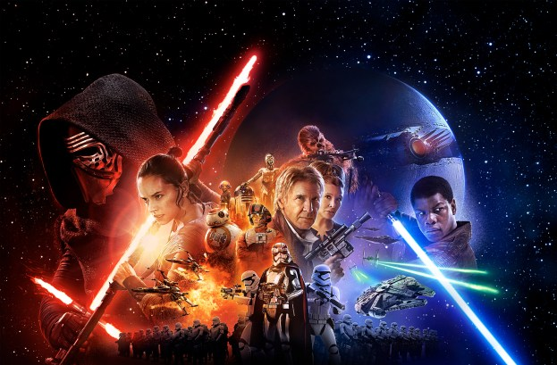 Star Wars The Force Awakens poster wide