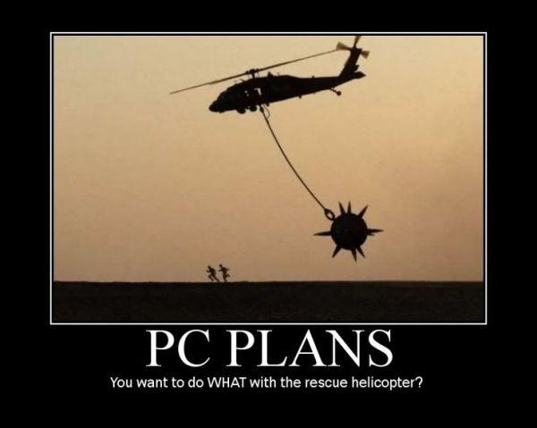 D&D PC plans helicopter meme