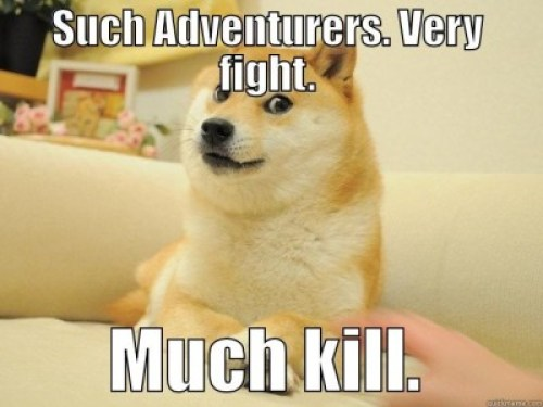 Dog such adventures meme