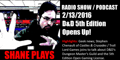shane plays podcast title 2-13-2016
