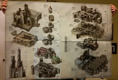 d&d curse of strahd fold out map Castle Ravenloft
