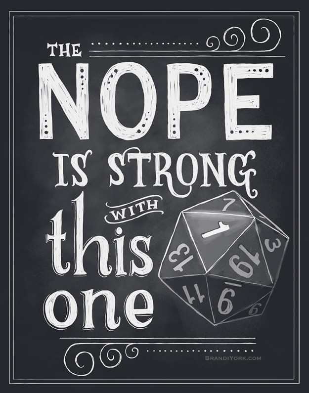 d&d meme the nope is strong with this one