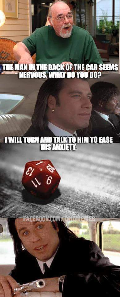 d&d meme pulp fiction