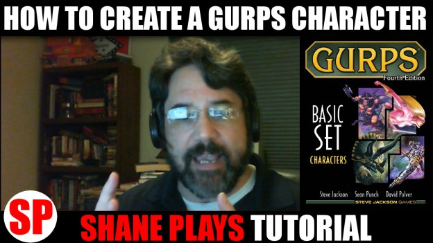 How to create a GURPS character youtube thumbnail